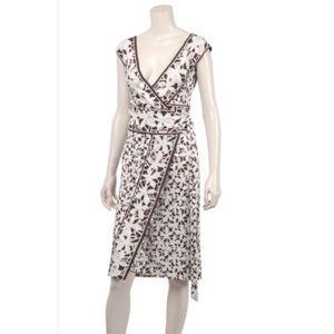 DVF Silk Jersey Willow Midi Wrap Dress